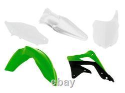 Racetech Plastik Kit Satz Plastikkit Kawasaki KXF 450 2012-2015 OEM Grün Weiß