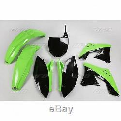 UFO Motocross Plastic Kit Kawasaki KXF 250 2009 & 2012 OEM Colour KAKIT212E-999