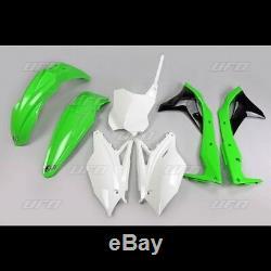 UFO Plastic Kit KXF 250 2018 OEM Standard Factory Colours Green White Black